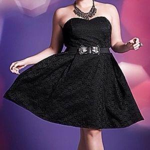 Lane Bryant Size 22 Dress Nylon Lace Overlay E35